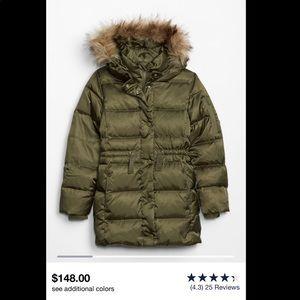 NWT GapKids control ultra Max down puffer coat
